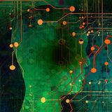 Futuristic teknologibakgrund Arkivbilder