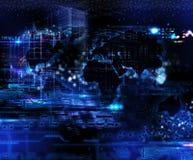 Futuristic teknologibakgrund royaltyfri bild