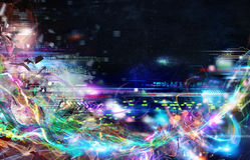 Futuristic teknologibakgrund Royaltyfria Bilder