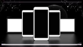 Futuristic telecommunications elements Stock Photo