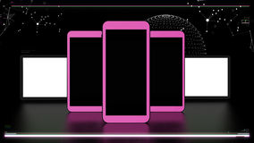 Futuristic telecommunications elements Royalty Free Stock Images