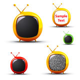 Futuristic Televisions -EPS Vector- Royalty Free Stock Photos