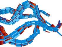 futuristic tentakelvektor för bakgrund 3d Arkivfoto