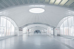 Futuristic terminal interior Royalty Free Stock Image