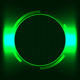 Futuristic text frame. Green futuristic round text frame illuminator window royalty free illustration