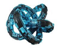 Free Futuristic Torus Technology Textured Object 3D Rendering Royalty Free Stock Photo - 108455425
