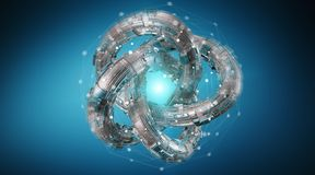 Free Futuristic Torus Technology Textured Object 3D Rendering Stock Image - 108970401