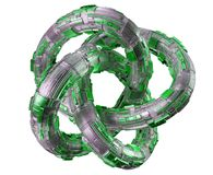 Free Futuristic Torus Technology Textured Object 3D Rendering Royalty Free Stock Photography - 111778107