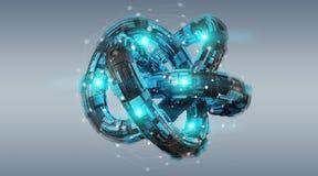 Free Futuristic Torus Technology Textured Object 3D Rendering Stock Photo - 113423240