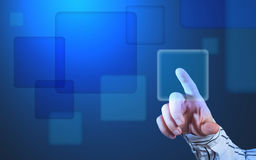 Futuristic touch screen display Stock Images