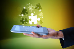 Futuristic touch screen display Royalty Free Stock Images