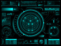 Futuristic touch screen user interface HUD Stock Photos