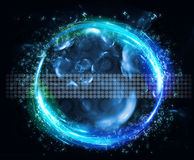 Futuristic touchscreen interface. View of a futuristic touchscreen interface Royalty Free Stock Photography