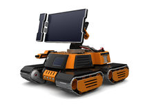 Futuristic Tracked Monitor Stock Photo