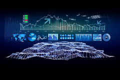Futuristic trading forex data interface - Business concept Stock Photo