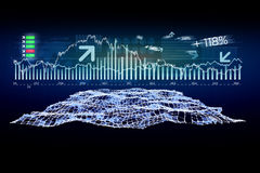 Futuristic trading forex data interface - Business concept Royalty Free Stock Image
