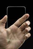 Futuristic transparent phone Royalty Free Stock Images