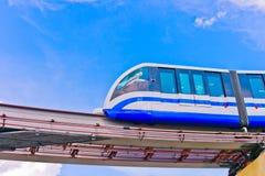 Futuristic transport. Futuristic monorail train, Moscow, Russia, East Europe Stock Images