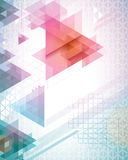 Futuristic Triangles. Funky bright triangle background, makes a cool poster for concert or any event Royalty Free Stock Photography