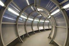 futuristic tunnel Arkivfoton