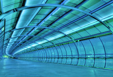 Futuristic tunnel. A HDR image of a futuristic-look tunnel royalty free stock photos