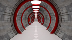 Futuristic tunnel Stock Photography