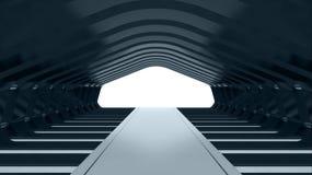 Futuristic tunnel Stock Photo