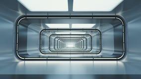 Spaceship corridor. stock video
