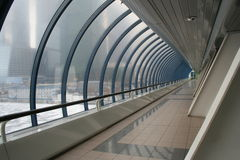 Futuristic tunnel for walkway Stock Images