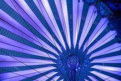 Futuristic umbrella-like tent roof of Sony Center in Berlin Stock Image