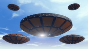 Futuristic unidentified flying object Stock Photo