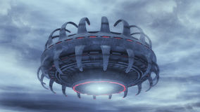 Futuristic unidentified flying object Stock Images