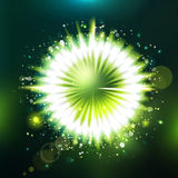 Futuristic unknowing particle green illustration Stock Photography