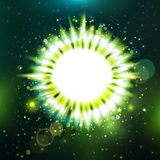Futuristic unknowing particle green star presentaton Royalty Free Stock Photos