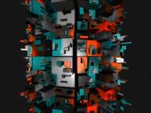futuristic unknown för främmande konstruktionsfantasi Arkivfoton