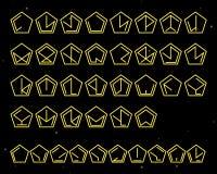 Futuristic unreadable alphabet. Alien font. Vector template. Royalty Free Stock Photos