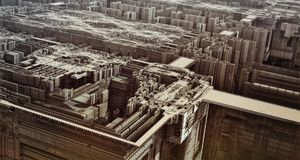 Futuristic Urban Landscape Royalty Free Stock Photo