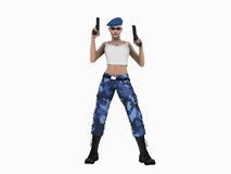Futuristic Urban Soldier Royalty Free Stock Photography