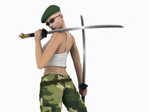 Futuristic Urban Soldier Royalty Free Stock Photos