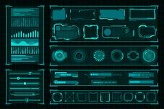 Free Futuristic User Interface Digital Design On Black Royalty Free Stock Photography - 125732567