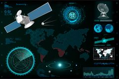 Futuristic User Interface, elements template HUD. stock illustration