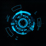 Futuristic user interface HUD. Royalty Free Stock Images