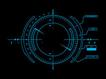 Futuristic user interface HUD vector illustration