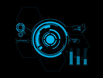Futuristic user interface HUD. Abstract futuristic style graphic user interface royalty free illustration