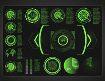 Futuristic user interface.HUD background outer space.  Infographic elements. Digital data, business abstract background. Infographic elements Royalty Free Stock Photo