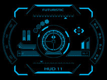 Futuristic user interface HUD. Futuristic blue virtual graphic touch user interface HUD stock illustration