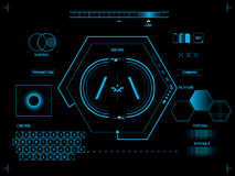 Futuristic user interface HUD Royalty Free Stock Photography