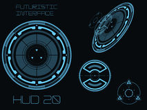 Futuristic user interface HUD. Futuristic blue virtual graphic touch user interface HUD vector illustration