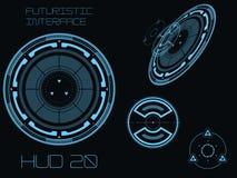 Futuristic user interface HUD Stock Photos