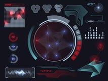 Futuristic user interface HUD Royalty Free Stock Photos